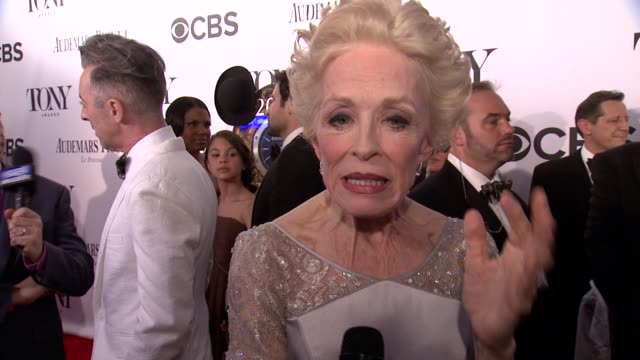 INTERVIEW Holland Taylor on what means the most to her at The 67th Annual Tony Awards Arrivals at Radio City Music Hall on June 09 2013 in New York...