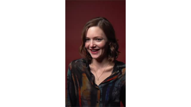 holliday grainger from 'animals' poses for a portrait in the pizza hut lounge in park city utah on january 27 2019 in park city utah - park city stock videos & royalty-free footage