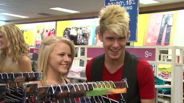hollie cavanagh and colton dixon at american idol season 11 contestants appear at los angeles kohl's for american idol's 'authentic icon collection... - american idol stock videos and b-roll footage