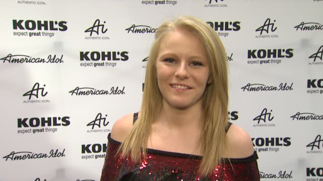 hollie cavanagh on why she is there style upcoming tour and preshow rituals at american idol season 11 contestants appear at los angeles kohl's for... - american idol stock videos and b-roll footage