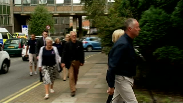 asher maslin jailed for life england gloucestershire gloucester crown court ext family members including nick gazzard and amanda gazzard along... - gloucestershire stock videos and b-roll footage