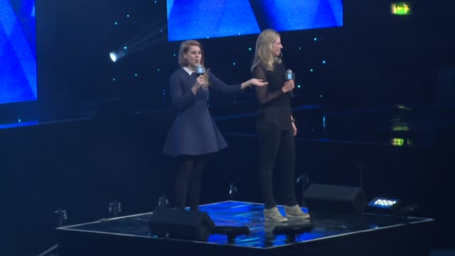 holly branson & princess beatrice at we day uk at wembley arena on march 5, 2015 in london, united kingdom - wembley arena stock videos & royalty-free footage