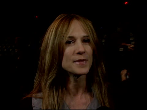 holly hunter on wearing vera wang to show, what she likes about her designs, and wearing a vera wang dress when she won her first oscar at the... - オリンパスファッションウィーク点の映像素材/bロール