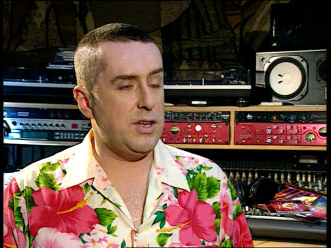 holly johnson comeback; england: west london: int cms holly johnson at mixing desk holly johnson interview sot - was in ignorance of hiv infection/... - epidemic stock videos & royalty-free footage