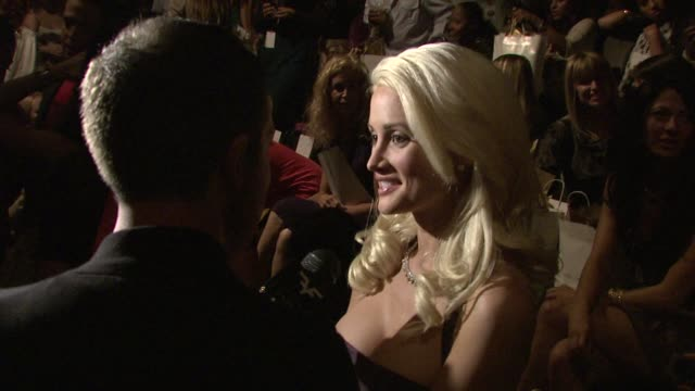 Holly Madison at the Los Angeles Fashion Week Lauren Conrad Collection at Los Angeles CA
