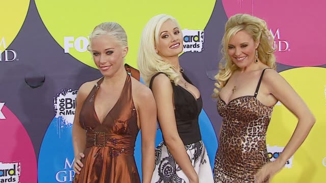 holly madison bridget marquardt and kendra wilkinson at the 2006 billboard music awards at the mgm grand hotel in las vegas nevada on december 4 2006 - mgm grand las vegas stock videos & royalty-free footage
