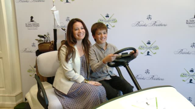 holly marie combs at brooks brothers hosts mini classic golf tournament to benefit st jude children's research hospital at brooks brothers beverly... - st. jude children's research hospital stock videos and b-roll footage