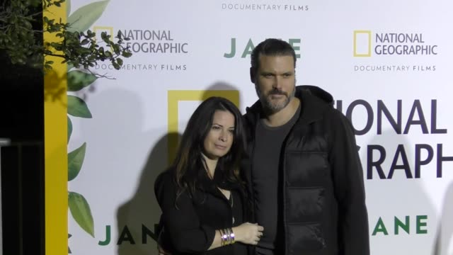 holly marie combs at the premiere of national geographic documentary films' 'jane' at the hollywood bowl on october 09, 2017 in los angeles,... - ドキュメンタリー映画点の映像素材/bロール