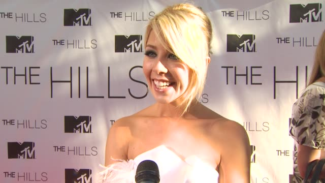 Holly Montag on how it feels to have the series ending at the MTV's 'The Hills Live A Hollywood Ending' Series Finale at Hollywood CA