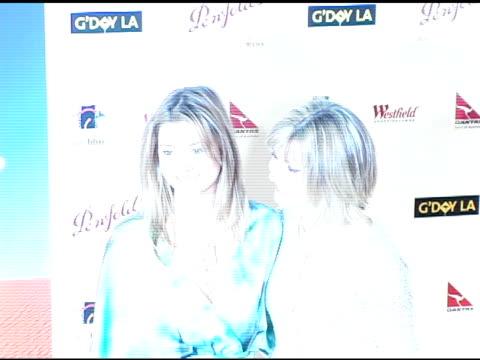 Holly Valance and Olivia Newton John at the G'Day LA Penfolds Black Tie Gala Dinner at the Century Plaza Hotel in Century City California on January...