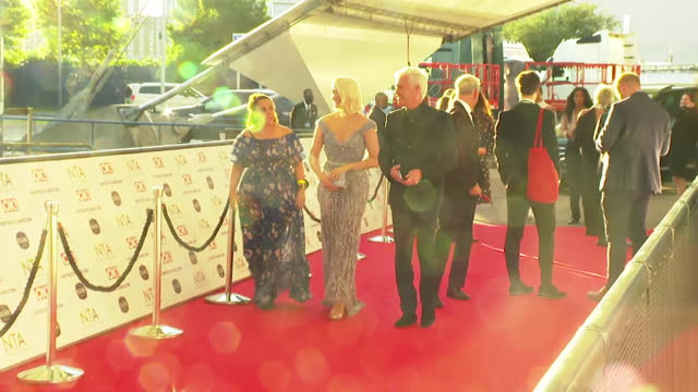 """holly willoughby and phillip schofield walk down red carpet together at nta awards 2021 - """"bbc news"""" stock videos & royalty-free footage"""