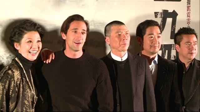 hollywood actor adrien brody stars as a journalist and historian in the chinese epic remembering 1942 about wartime famine that is believed to have... - epic film stock videos & royalty-free footage