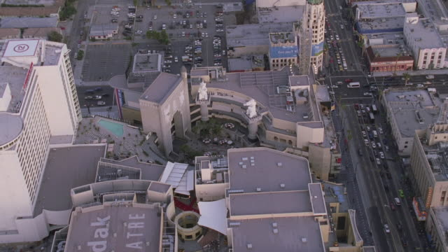 AERIAL Hollywood and Highland Center and surrounding area/ Los Angeles California, United States