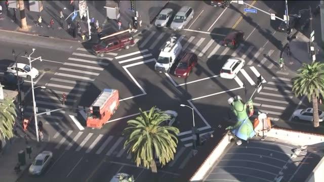 KTLA Hollywood and Highland new 'Scrambled' Crosswalk