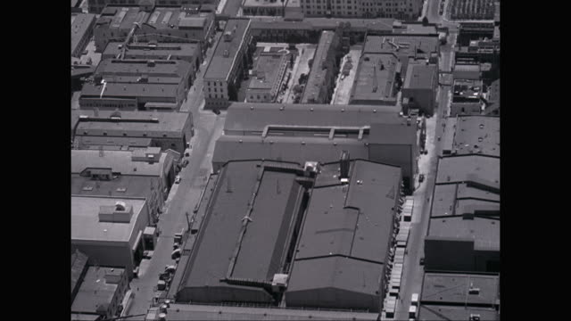 ws aerial pov hollywood backlot studio / hollywood, california, united states - 1950 stock videos and b-roll footage