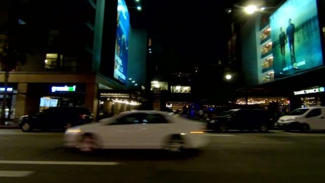 vidéos et rushes de hollywood blvd ix série synchronisée plaque de conduite vue gauche - hollywood