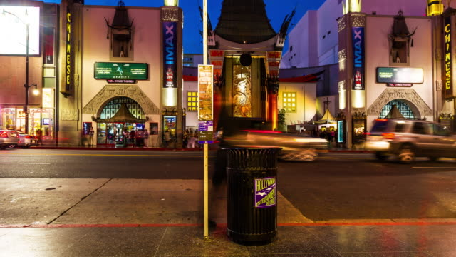 vídeos de stock, filmes e b-roll de hollywood blvd timelapse - passeio da fama de hollywood