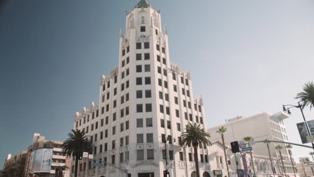 vídeos de stock, filmes e b-roll de hollywood blvd with highland blvd - los angeles - hollywood boulevard