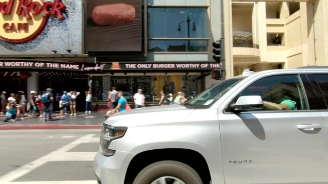 hollywood blvd xxv synced series right view driving process plate - hollywood boulevard stock videos & royalty-free footage