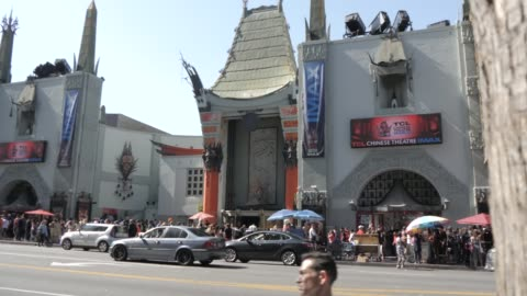 hollywood boulevard, hollywood and view of tcl chinese theatre, los angeles, california, united states of america, north america - tcl chinese theatre stock videos & royalty-free footage