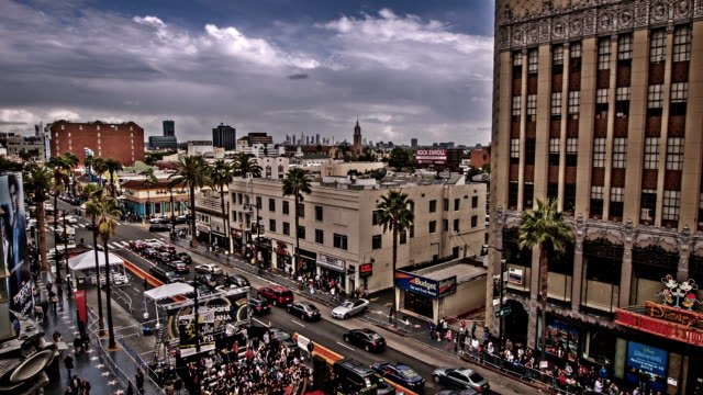 hollywood boulevard, los angeles, usa - boulevard stock videos & royalty-free footage