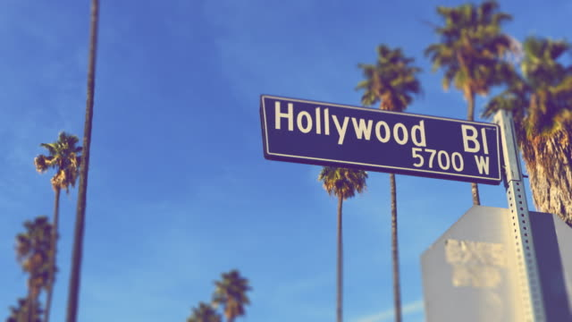 hollywood boulevard - los angeles - walk of fame stock videos & royalty-free footage