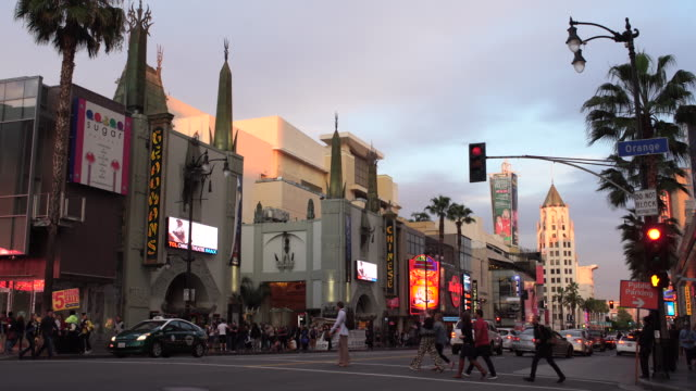 vidéos et rushes de hollywood boulevard - hollywood boulevard