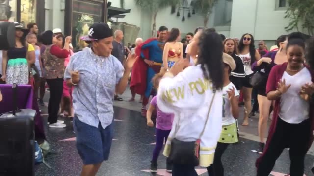 broll of the flash mob dance tribute to prince put on by black lives matter on hollywood blvd interview with the organizer of the flash mob that made... - flash mob stock videos and b-roll footage