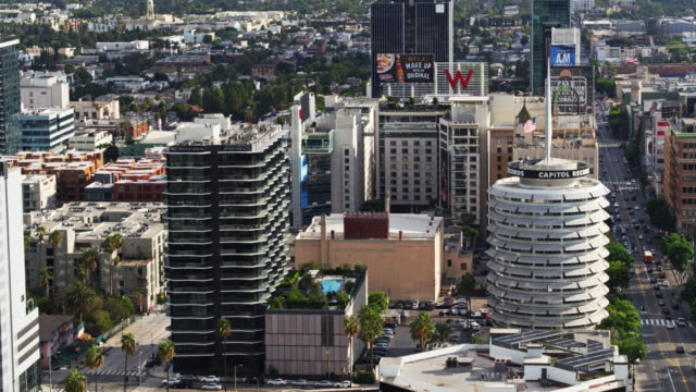 Hollywood, California by Day - Aerial Shot