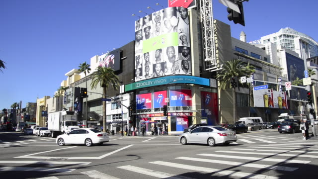 vidéos et rushes de hollywood, california - hollywood boulevard