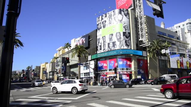 vídeos de stock, filmes e b-roll de hollywood, california - bulevar