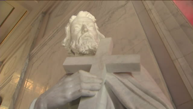 ktla hollywood forever cemetery cathedral mausoleum - mausoleum stock videos and b-roll footage