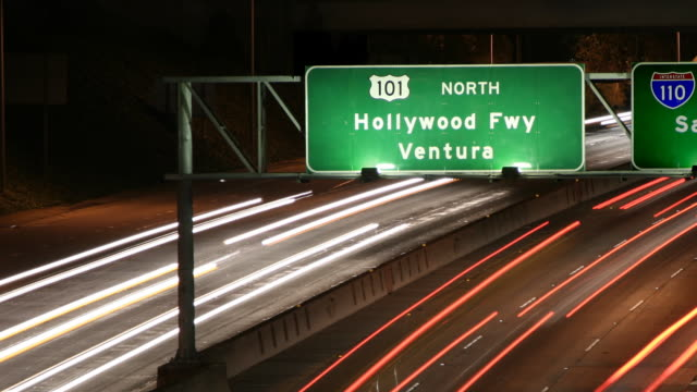 hollywood freeway sign close up - ventura stock videos and b-roll footage