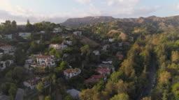 Hollywood Hills Aerial Hollywood Sign