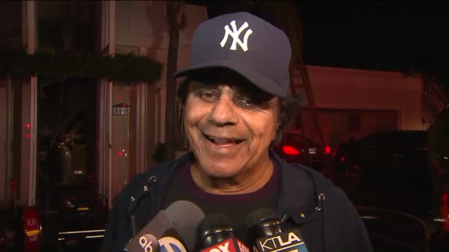 KTLA Hollywood Hills Home of Singer Johnny Mathis Devastated by Fire on November 2 2015 Sound with Mathis talking about the fire and his home
