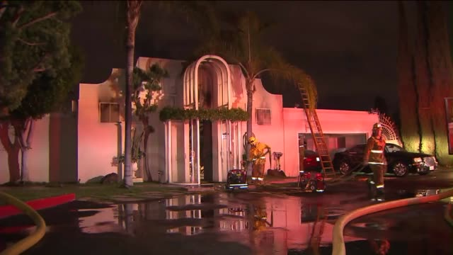 KTLA Hollywood Hills Home of Singer Johnny Mathis Devastated by Fire on November 2 2015