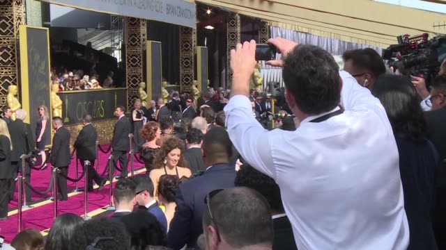 hollywood hits the oscars red carpet for its annual show of glitz and pageantry honoring cinemas finest with a broiling row over diversity an awkward... - grigliare video stock e b–roll