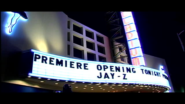 Hollywood Palladium Marquee for a JayZ Show in Hollywood CA
