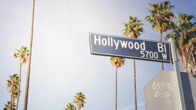 hollywood road sign - hollywood stock videos & royalty-free footage