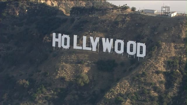 hollywood sign above clouds - hollywood california stock videos & royalty-free footage