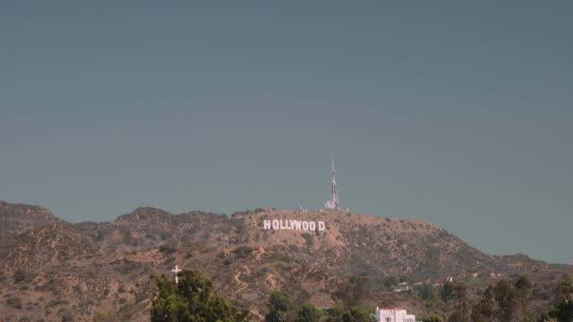 hollywood sign from dolby theater - the dolby theatre stock videos & royalty-free footage