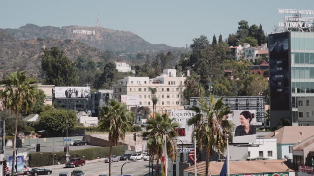 hollywood sign from dolby theatre, los angeles, ca - 2015 stock videos & royalty-free footage