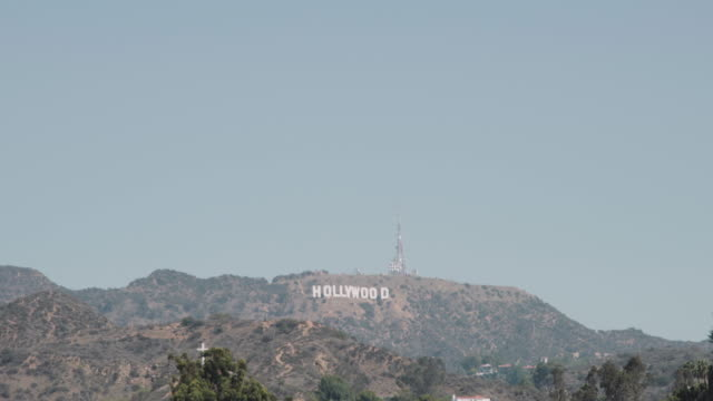 hollywood sign from dolby theatre, los angeles - the dolby theatre stock videos & royalty-free footage