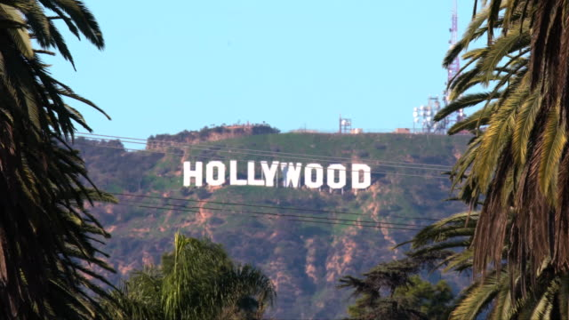 vidéos et rushes de hollywood sign - hollywood california
