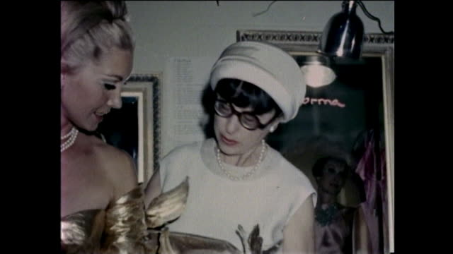 hollywood sixties fashion show with edith head - modenschau stock-videos und b-roll-filmmaterial