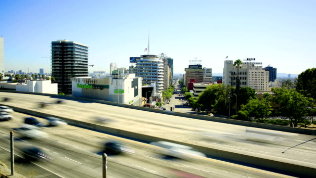 hollywood skyline - walk of fame stock videos & royalty-free footage