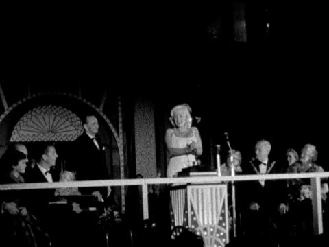 hollywood star jayne mansfield switches on the blackpool illuminations - blackpool stock videos & royalty-free footage