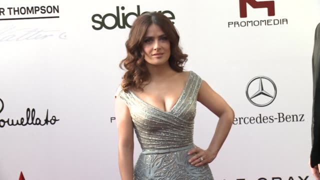 hollywood star salma hayek in her ancestral homeland lebanon for the first time launched the global premiere of her animated adaptation of kahlil... - salma hayek stock videos and b-roll footage