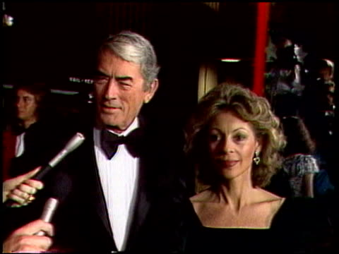 hollywood stars at afi tribute to fred astaire - gregory peck stock videos and b-roll footage