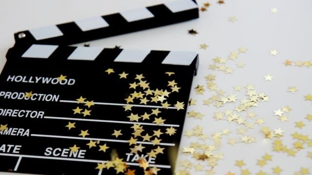 hollywood stars - film slate stock videos & royalty-free footage